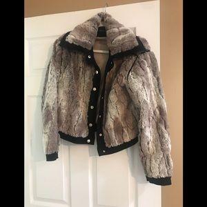 Faux fur jacket size small